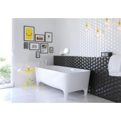 Decor OLDEN HEXAGON BLANCO BRILLO 25X80 ARGENTA