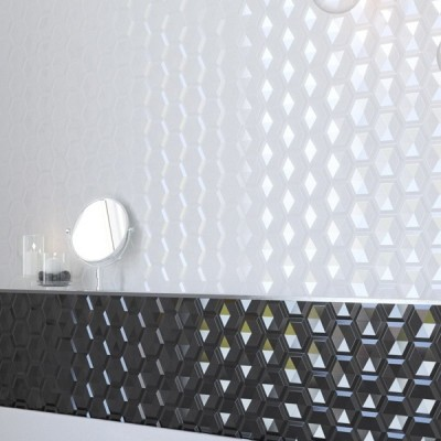 Decor FEROE HEXAGON BLANCO MATE 25X80 ARGENTA
