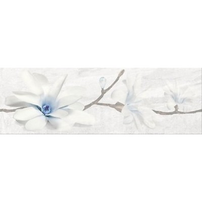 Decor Stone Flowers Grey Inserto 25x75, Cersanit