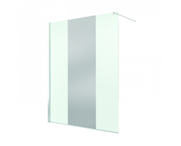 Paravan de dus Walk-in Pur 100x200,sticla securizata de 8mm,decor Chrome Mirror-66