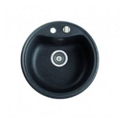 Chiuveta ISAO 51cm,1cuva rotunda,Negru CASABLANCA