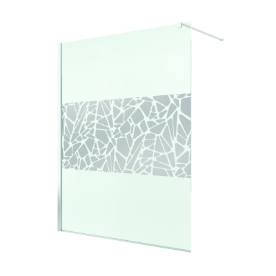 Paravan de dus Walk-in Pur 120x200,sticla securizata de 8mm,decor Chrome Stone-64